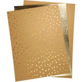 Faux leather paper, 3 vellen, 21x27,5 + 21x28,5 + 21x29,5cm