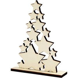 Houten kerstboom 19,6x14,9cm