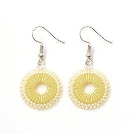 Kit oorbellen Rada jaune-argent