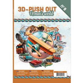 """3D Push out Out Book """"A Man's World"""""""