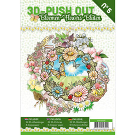 """3D Push out Out Book """"Bloemen - Flowers"""""""