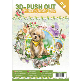 """3D Push out Out Book """"Dieren - Animals"""""""