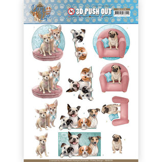 3D Puchout - Amy Design - All kind of dogs