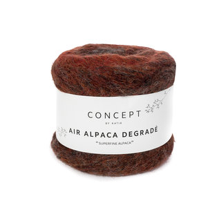 Air alpaca degrade 50g 64 roest-bruin bad 19039