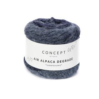 Air alpaca degrade 50g 67 blauw bad 21720