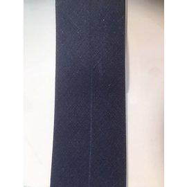 Biaisband 5cm breedte 60° wasbaar 23 blauw per meter