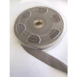 JERSEY BIAIS band 20cm breed 60° wasbaar lichtgrijs per meter