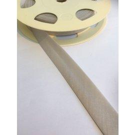 biais band 2cm breedte 60° wasbaar lichtgrijs per meter
