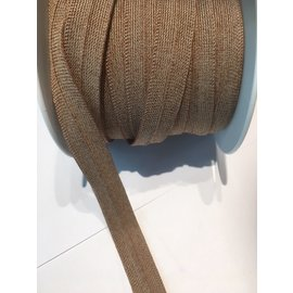 biais band FILLATRESSE 2cm breedte 60° wasbaar bruin per meter