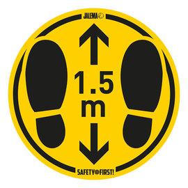 Voetafdruk veiligheidsafstandssticker 35cm PER STUK