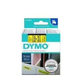 Dymo 45018 D1-Lint 12mm - 7m Zwart/Geel