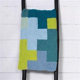 Durable Criss-Cross Blanket Blue, 180x120cm