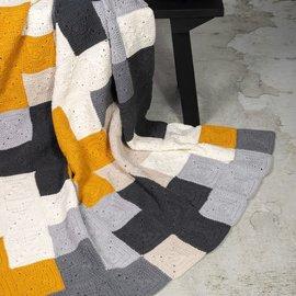 Durable Criss-Cross Blanket Grey, 180x120cm
