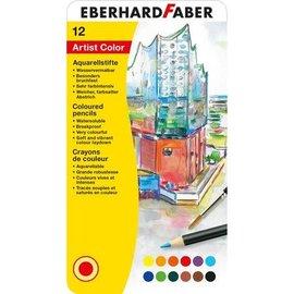 EberhardFaber Aquarelkleurpotloden blik-etui 12st.