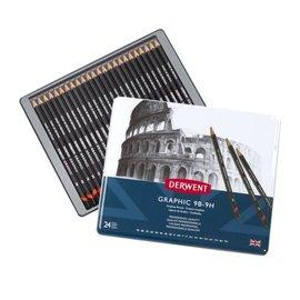 Graphic Pencils 24st Tin, 9B-9H