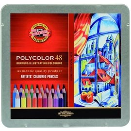 Drawing/illustrating/colouring artists' coloured pencils 48st.