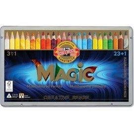 Magic multicoloured pencils, Progresso, 3 in 1, 24 delig