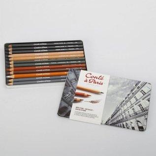 Conté à Paris 12 Assorted Sketching & Drawing Pencels