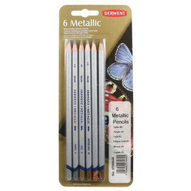 Derwent 6 Metallic watersoluble metallic pencils