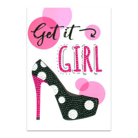 Diamond Dotz +/- 12,7 x 17,8 cm Art Card Kits - Get it Girl