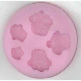 Silicone vorm cupcakes