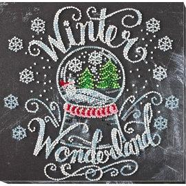 Borduren met parels Winter Wonderland 20x20cm