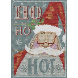 Borduurpakket Vintage Christmas - Ho Ho Ho ! 18x26cm