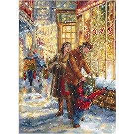 Borduurpakket Christmas Expectation 37x27cm