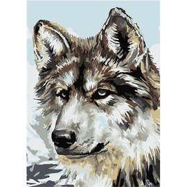 Painting by numers 16.5x13cm Wolf