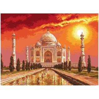 Bedrukt stramien Taj Mahal in India 40x29cm
