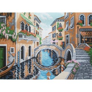 Bedrukt stramien On streets of Venice 40x29cm