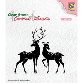 Nellie Snellen, Christmas silhoutte clearstamps Deer