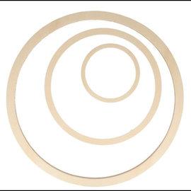 Set van 3 houten ringen D:40cm D:26cm D:13cm