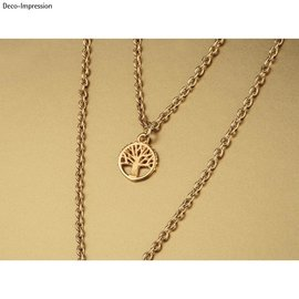 Rayher Metalen mini hanger levensboom, 10mm ø, goud