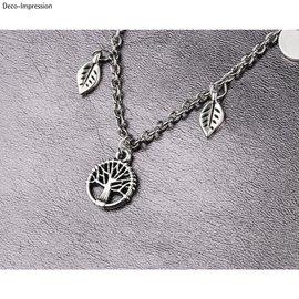 Metalen mini hanger levensboom, 10mm ø, zilver