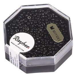 Premium-rocailles Opaak 2,2mm zwart 12g
