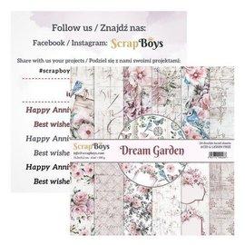 ScrapBoys Dream Garden 24 vl + cut out elements  15,2x15,2cm