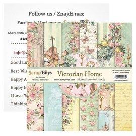 ScrapBoys Victorian Home 24 vl + cut out elements  15,2x15,2cm
