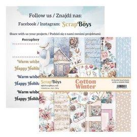 ScrapBoys Cotton Winter 24 vl + cut out elements  15,2x15,2cm