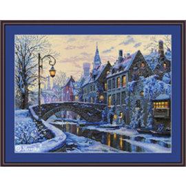 Kluissteekpakket Winter Evening 30x40cm