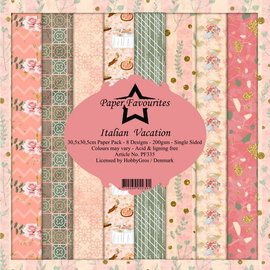 Paper Pack 30,5x30,5cm  8 designs 200g/m² Italian Vacation