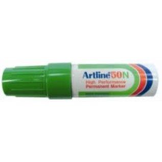 """Artline: Permanente Marker """"50N"""" schuine punt, 3.0-6.0mm - Groen"""