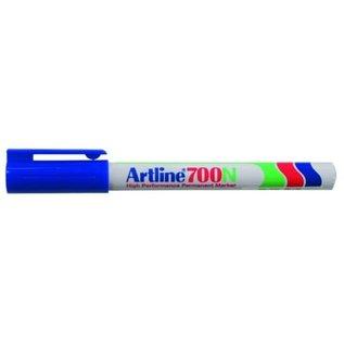 "Artline: Permanente Marker ""700N"" ronde punt, 0.7mm - Blauw"