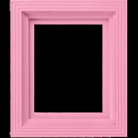 Pixel kader voor 1 basisplaat baby-roze