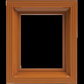 Pixel kader voor 1 basisplaat oker-bruin