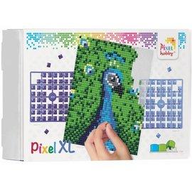 pixel XL op vier basisplaten pauw