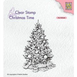 Nellies Choice Clearstempel - Christmas time - Kerstboom 50x79mm