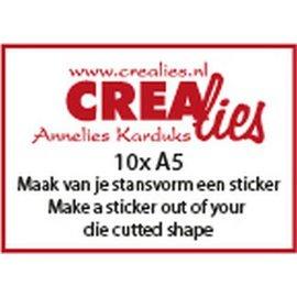 Crealies Basics 10 x A5 Maak van je stansvorm een sticker CLBSSticker 10x A5