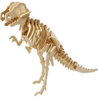 3D Houten constructie set Dinosaurus afm 33x8x23 cm triplex 1st.