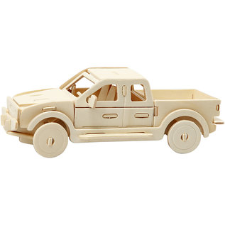 3D Puzzel Pick p truck, afm 19,5x8x12cm triplex 1st.